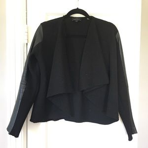 Ted Baker wool & leather sweater/jacket